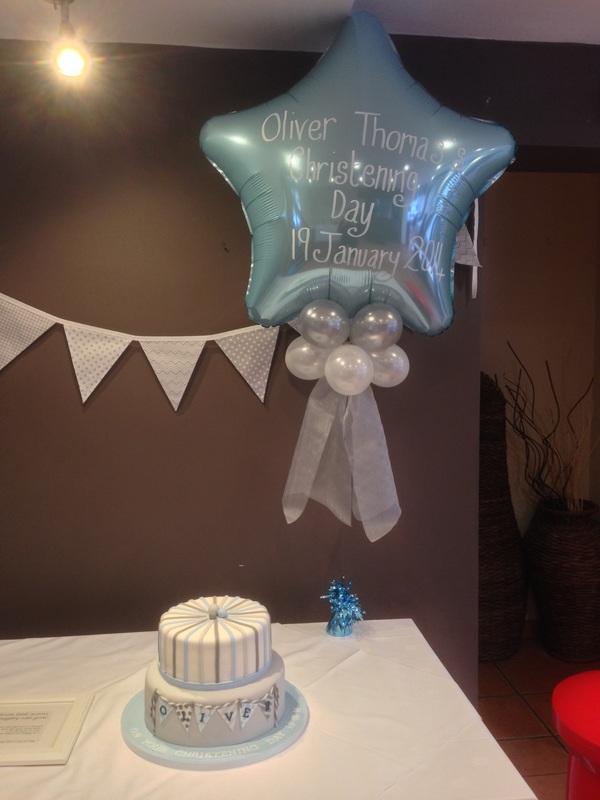 Christening Balloons At Lets Celebrate